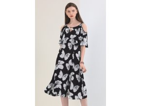 Dámské šaty MOTY WHITE BLACK