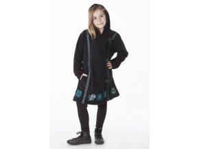 Dívčí etno Kabát BLACK
