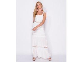 Bílé letní maxi šaty