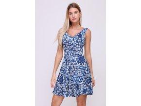 Letní Květované šaty BELLA BLUE