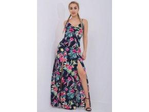 Dlouhé letní šaty DITA PINK barevné