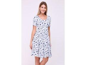 Letní květované šaty ASAN modré