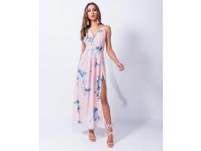 Maxi šaty růžové