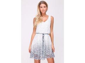 Letní  puntíkaté šaty LINA bílé