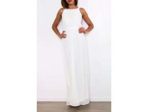 Dlouhé letní šaty BARA bílé