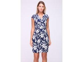 Letní květované šaty LENY modré