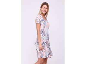Letní květované šaty ASAN barevné