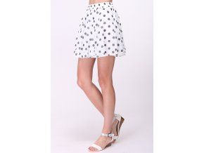 Puntíkatá mini sukně bílá