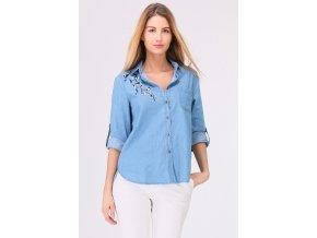 Dámská džínová košile modrá