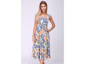 Letní midi šaty JORDANIE barevné