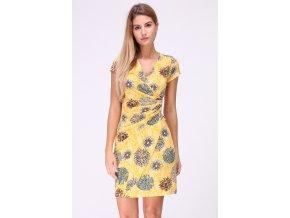 Letní květované šaty CAMILLES Žluté