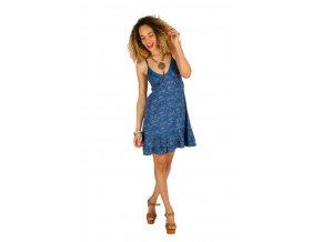 Letní krátké šaty ETNO modré