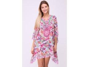 Plážové šaty Kaftan růžové