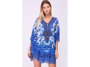 Plážové šaty Kaftan modré