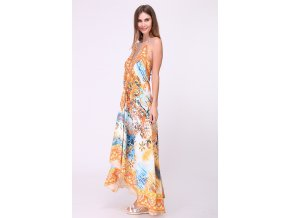 Plážové maxi šaty Kaftan oranžové