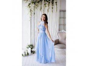 Společenské šaty OLYA světle modré