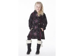 Dívčí etno Kabát Hvězda černý