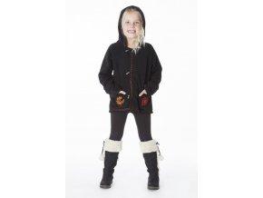 Dívčí etno Kabát krátký BLACK