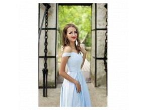 Společenské šaty AURÉLINE světle modré
