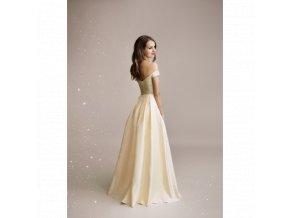 Společenské šaty AURÉLINE světle zlaté