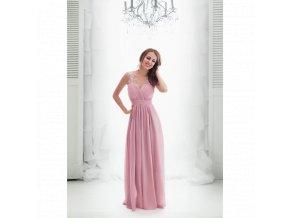 Společenské šaty JOELLE starorůžové