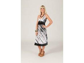 Letní šaty černo bílé