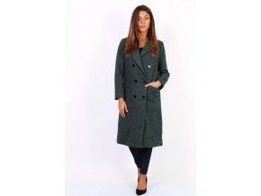 Dámský Elegantní Kabát zelený