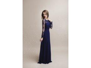 Společenské plesové Šaty WHITNEY tmavě modrá