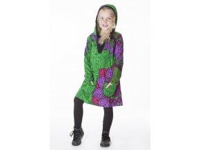Dívčí bavlněné šaty Zelené