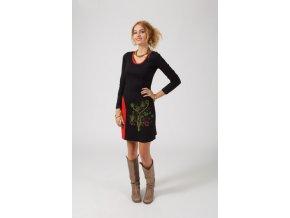 Bavlněné šaty černé AVANA