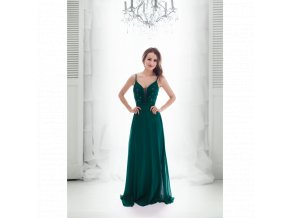Plesové Šaty COLINE tmavě zelené