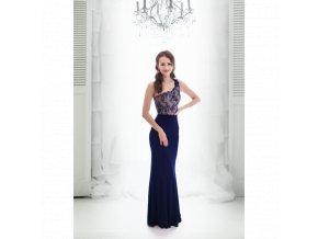 3c4c19c3f46 Společenské plesové Šaty JANICE tmavě modré