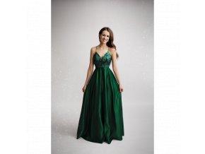 f7cb5c07e7cc Společenské plesové šaty CARINE zelené