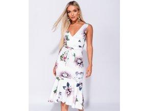 Letní květované Midi šaty