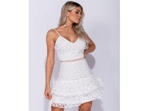 Bílé krajkové šaty ANNY