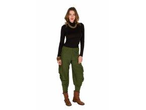 Etnické Kalhoty NATA zelené