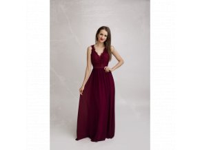 Společenské plesové šaty LAETITIA vínové