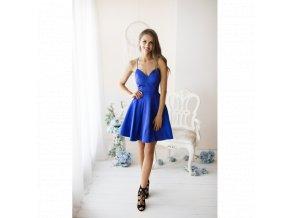 Koktejlové Šaty CLARIE modré