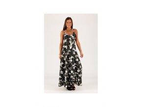 Letní Maxi šaty vzorované černobílé