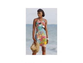 Krátké letní šaty FLOWERY barevné