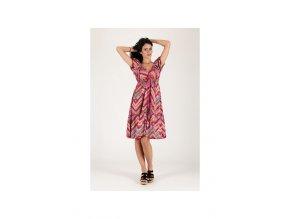 Letní midi šaty vzorované barevné
