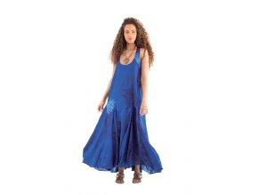 Letní šaty RIA vzorované modré