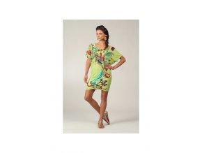 Krátké letní šaty zelenkavé barevné