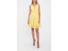 Žluté krajkové šaty