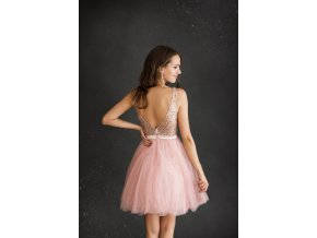 Koktejlové Šaty SOLENE růžové