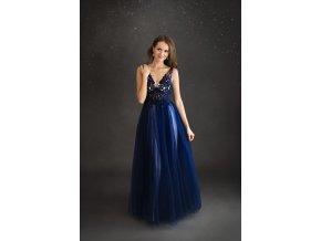 Plesové šaty LILY Tmavě modré