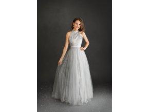 Plesové šaty SOPHIE stříbrné