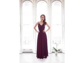 Plesové šaty vínové