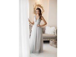 Plesové šaty AXELLE stříbrné