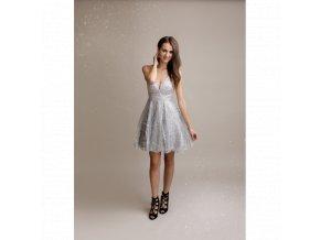 Koktejlové Šaty EMILY stříbrné